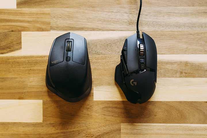 マウスの不具合を確認する